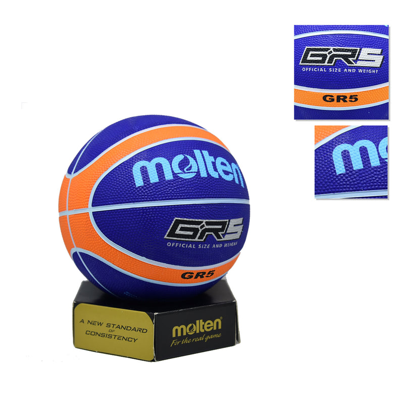 Bola Basket Molten GR5 Blue ( Outdoor )