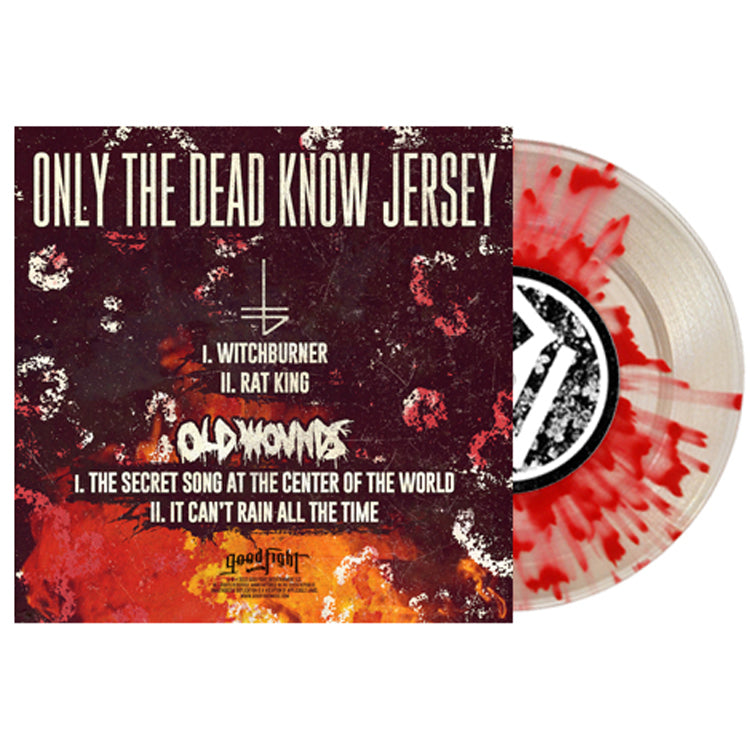 "Only The Dead Know Jersey Clear W/Blood Red Splatter 7"" Vinyl LP"