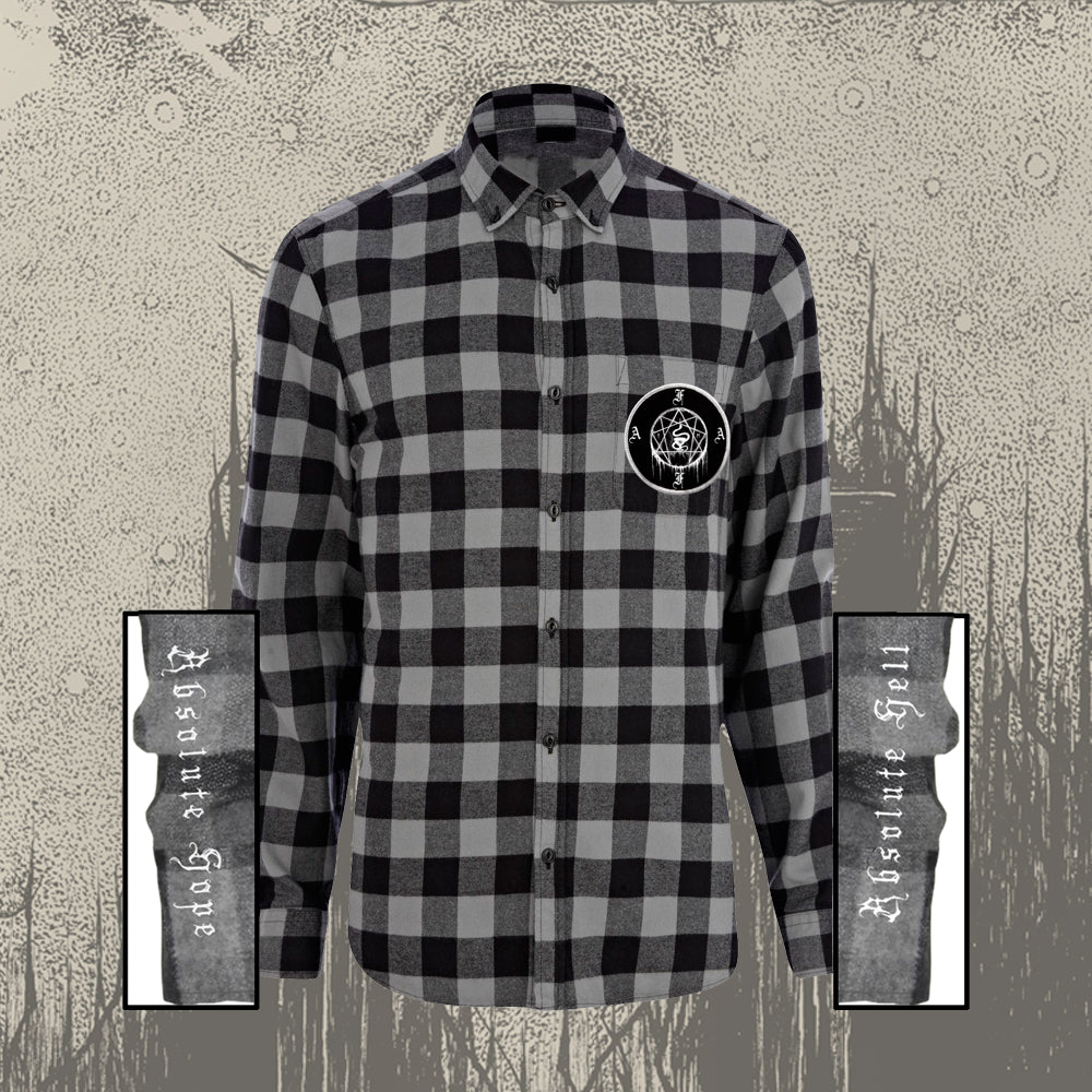 Flannel W/ Patch Black & Grey