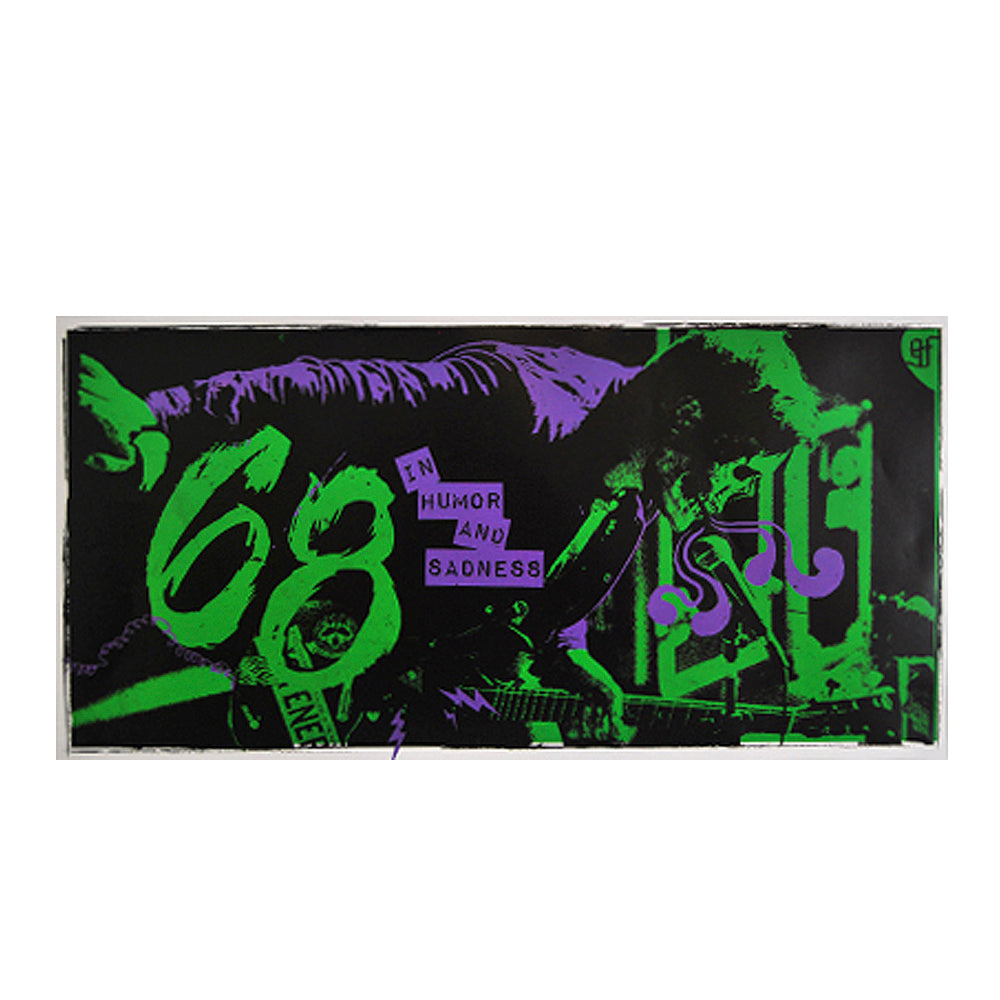 "Josh Skull Green/Purple 24x12"" Silk Screened Poster"