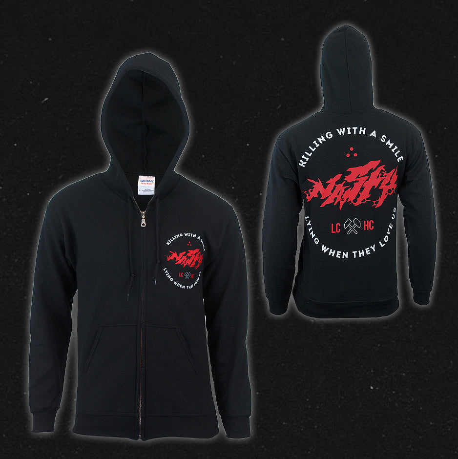 Killing With A Smile Black Zip-Up