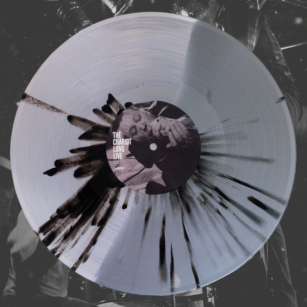 Long Live (10 Year Anniversary) Half Clear/Half Silver W/ Black Splatter