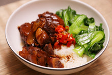 Load image into Gallery viewer, Braised Pork Knuckle Rice Bowl with Bok Choy