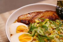 Load image into Gallery viewer, Red Braised Pork Belly Ramen with Onsen Egg