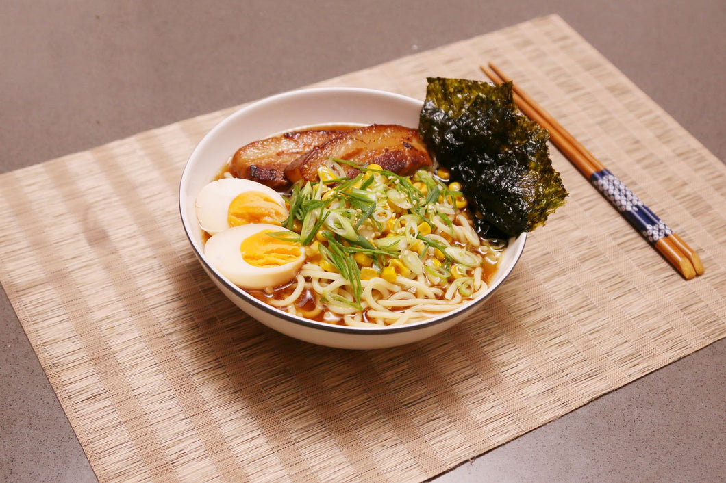 Red Braised Pork Belly Ramen with Onsen Egg