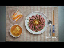 Load and play video in Gallery viewer, Wagyu Donburi with Miso Soup