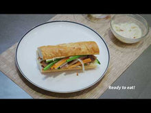 Load and play video in Gallery viewer, Slow Cooked Crispy Skin Pork Belly Banh Mi