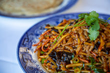Load image into Gallery viewer, Yu Xiang Rou Si (Sichuan Shredded Pork with Garlic Sauce) with homemade Chinese pancake