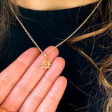 This dainty sun necklace is a tribute to those people in our lives that help create this bright and balmy setting. A meaningful friend gift, appreciation gift, birthday gift, Christmas gift or just because gift.  Now it's your turn to fill her heart with the comfort and joy she brings to your life, with a gift that says it all. Everytime she puts it on she'll remember the difference she is making in the world and all she means to you.