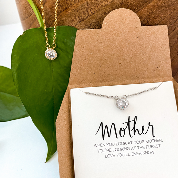 Diamond Mother Necklace