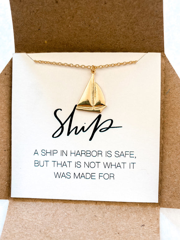 Ship Necklace