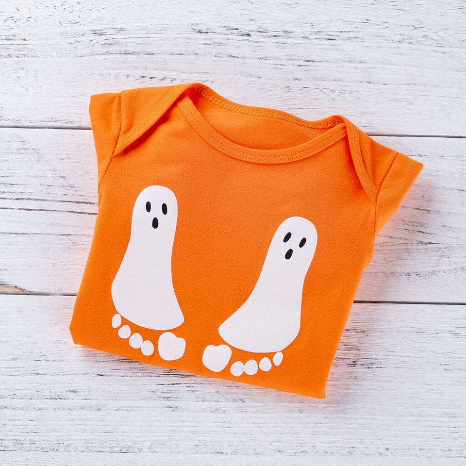 Baby Girl Halloween Onsie and headband