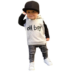 """OH BOY"" TODDLER BOYS 2-PIECE SET"