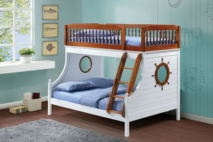 TWIN OVER DOUBLE OAK SAILOR BUNK BED