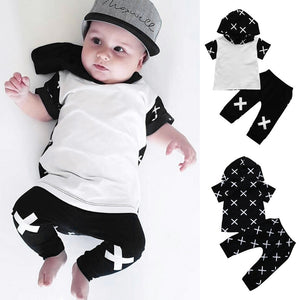 2Pcs Hooded Boys Set