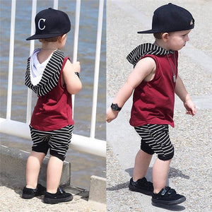 Boy Burgundy Summer Set