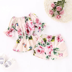 GIRLS FLORAL 2-PIECE SUMMER SET