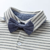 Blue overall & bow tie set