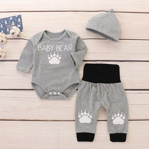 BOYS COTTON 3-PIECE LONG SLEEVE SET