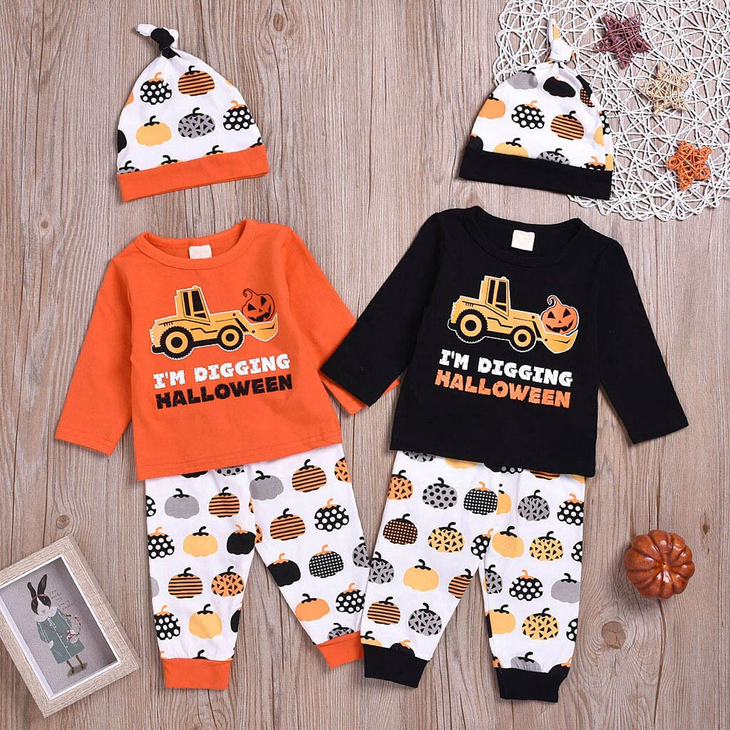 Infant Baby Girls Boys Long Sleeve Halloween