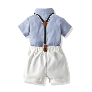 """Little Gent"" Baby Blue Set"