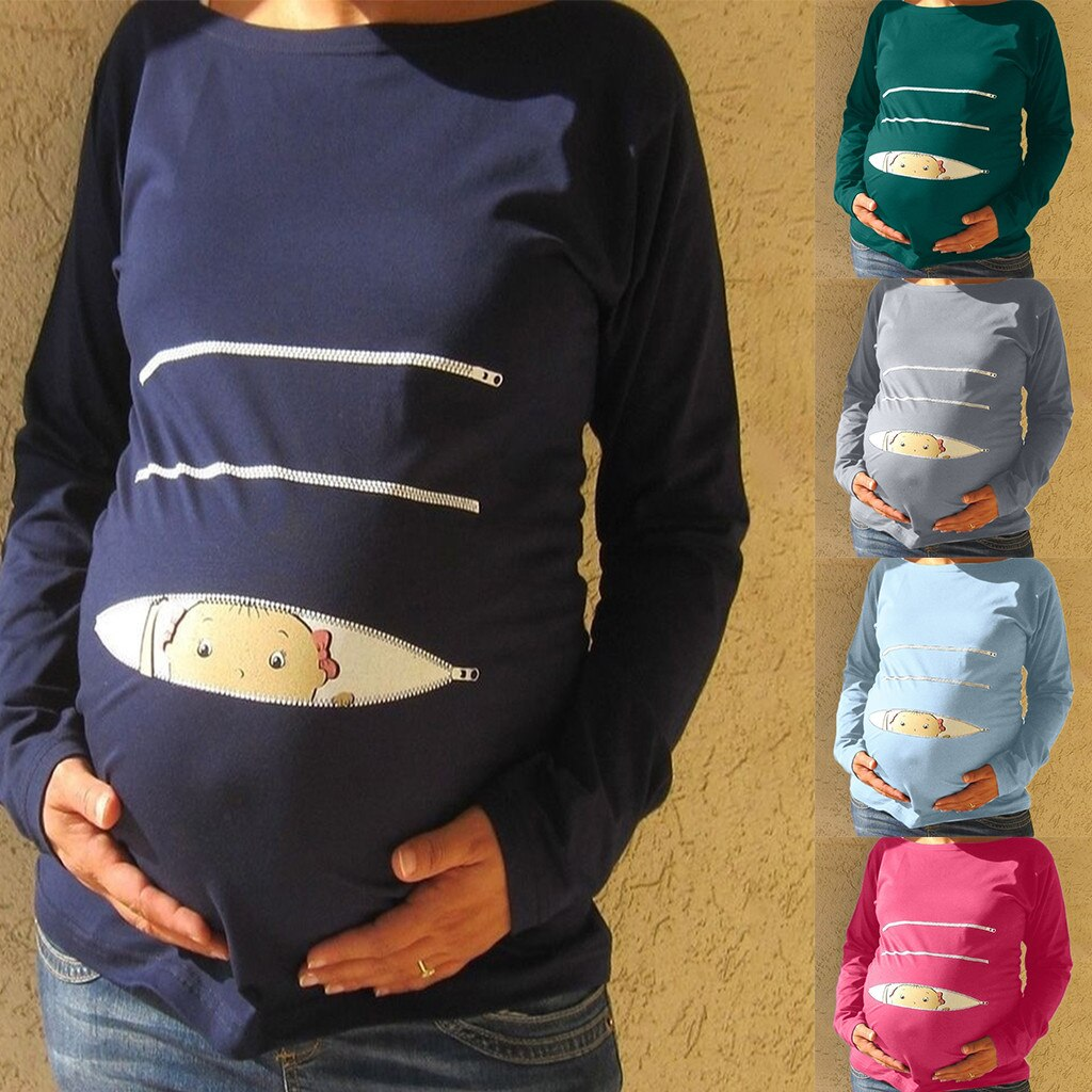 MATERNITY PEEKABOO LONG SLEEVE TOP