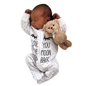 Newborn Infant Rompers Baby Boy Girl Letter