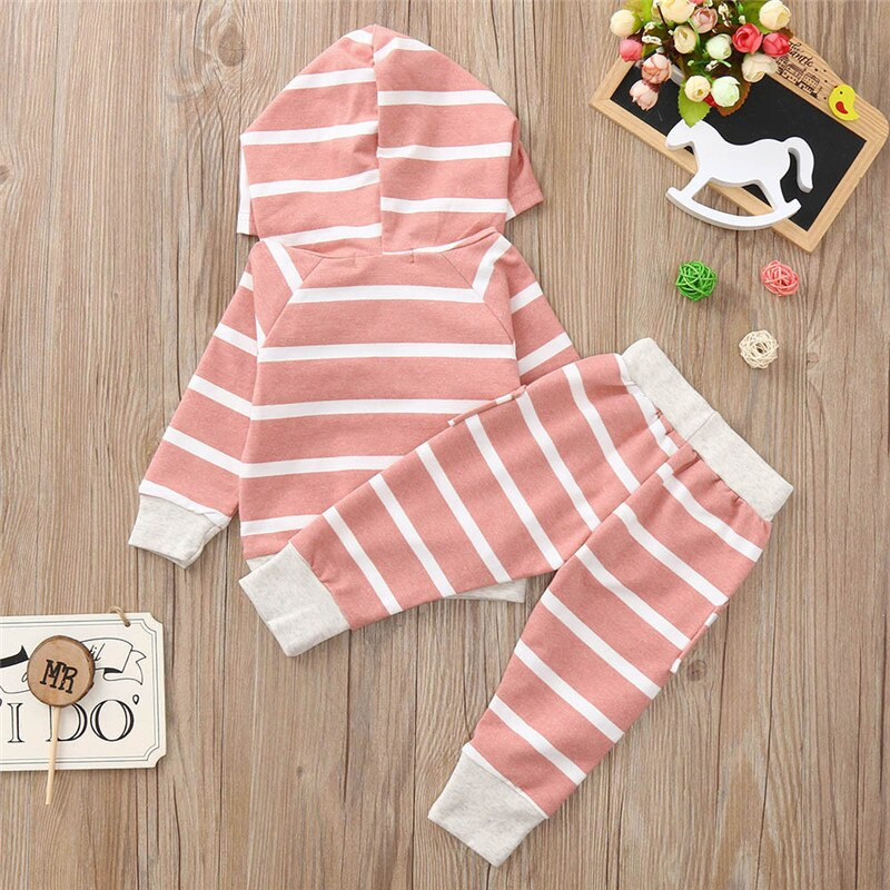 BABY GIRLS STRIPED 2-PIECE OUTFIT SET