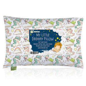 Toddler Pillow with Pillowcase (Unicorn Dreams)