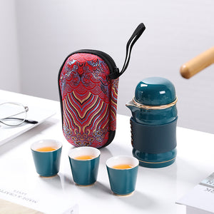 High quality travel portable ceramic tea set