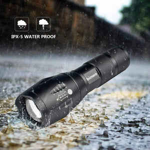 LED glare flashlight
