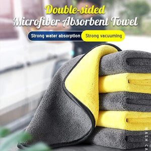 Double-sided Microfiber Absorbent Towel (2pcs)
