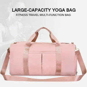 Separate dry and wet fitness sports bag