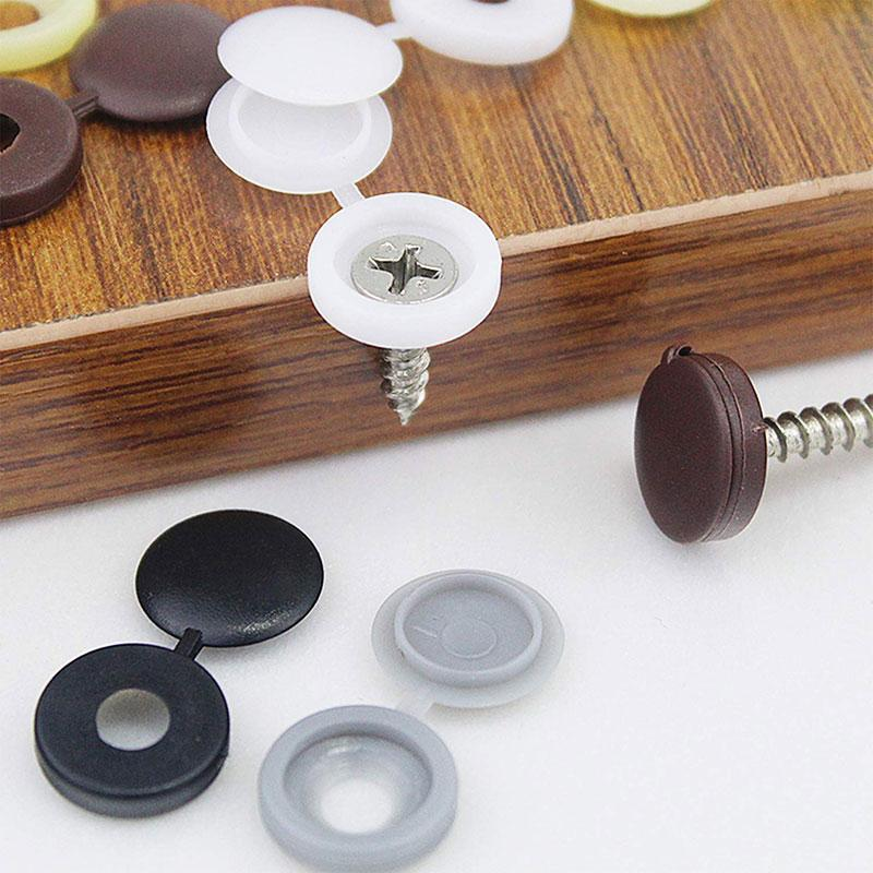 100PCS Hinged Screw Cover Caps