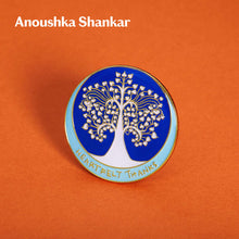 Load image into Gallery viewer, Enamel pin designed by Anoushka Shankar
