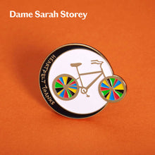 Load image into Gallery viewer, Enamel pin designed by Dame Sarah Storey