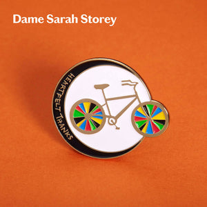 Enamel pin designed by Dame Sarah Storey
