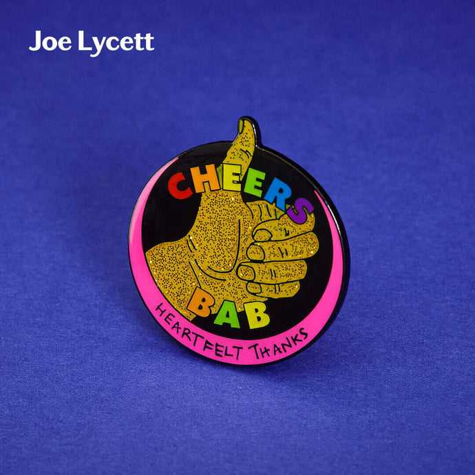 3D render of Joe Lycett Pin Badge