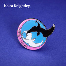 Load image into Gallery viewer, 3D render of Keira Knightley Bird Rescue Pin Badge