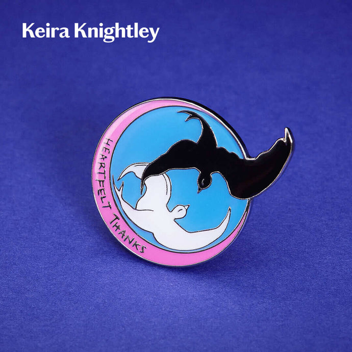 3D render of Keira Knightley Bird Rescue Pin Badge