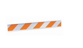 "Cortina T-Board Rail, 6'L x 8"" H x 2""D, Orange/White"