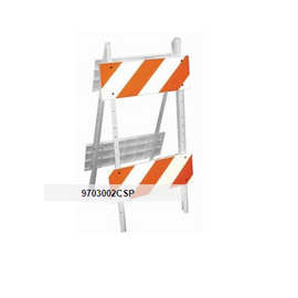 "Cortina Steelcade Barricade 45"" x 24"". Orange/white"
