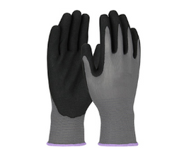 West Chester G-Tek GP Seamless Knit Polyester Glove with Nitrile Coated MicroSurface Grip on Palm & Fingers