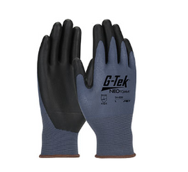 West Chester G-Tek NeoFoam Seamless Nylon Glove with NeoFoam Coated Palm & Fingers - Touchscreen Compatible