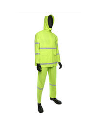 West Chester PIP 3 Piece Rainsuit Hi Visibility