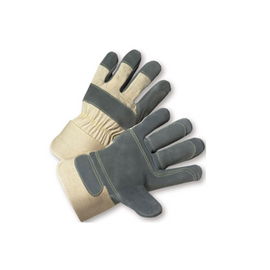 West Chester PIP Premium Split Cowhide Leather Double Palm Gloves - with Kevlar Thread - price per dozen