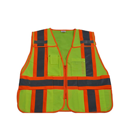 Petra Roc 5 Point Breakaway Safety Vest (Mesh) - Meets ANSI/ISEA 107-2015 Class II & 207-2006 Standards, Zipper Closure - Choose Size