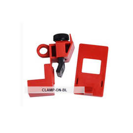 "Brady® Clamp-On Breaker Lockouts, 120/277 VAC, 2 3/16""H x 1""W x 11/16""D, Red - 6 per package"