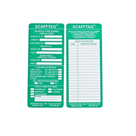 Brady® Scafftag® Inspection Inserts, Green - 100 per package