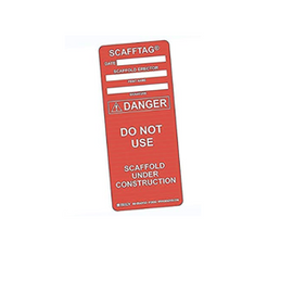 Brady® Scafftag® Danger Inserts, Red - 100 per package